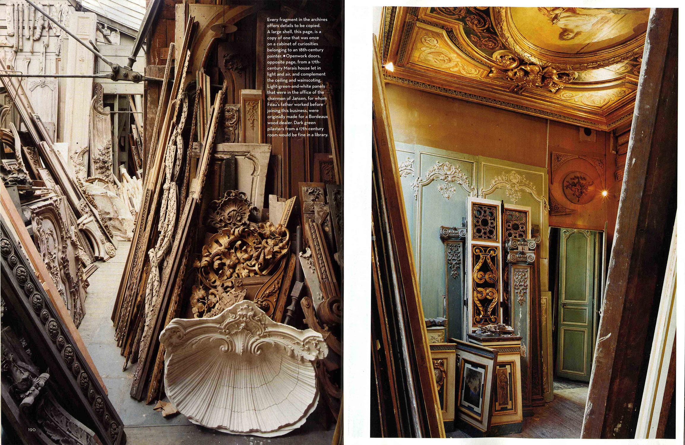 Article magazine House & Garden 2006 avec Féau Boiseries