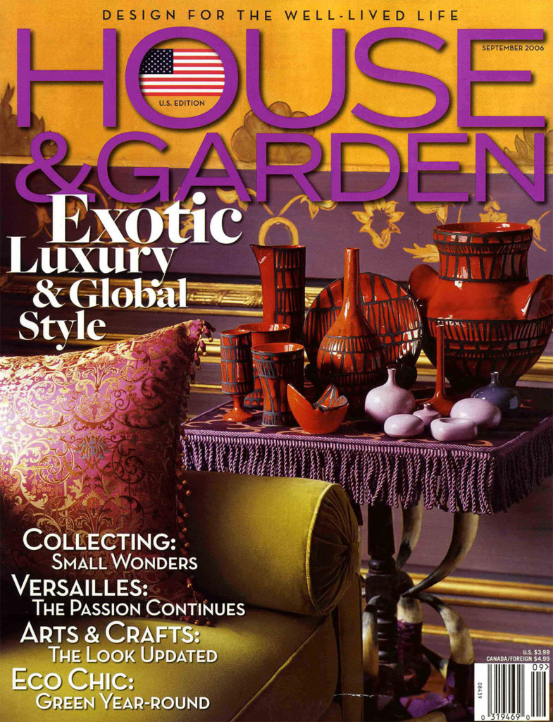 Article magazine House & Garden 2006 avec Féau Boiseries