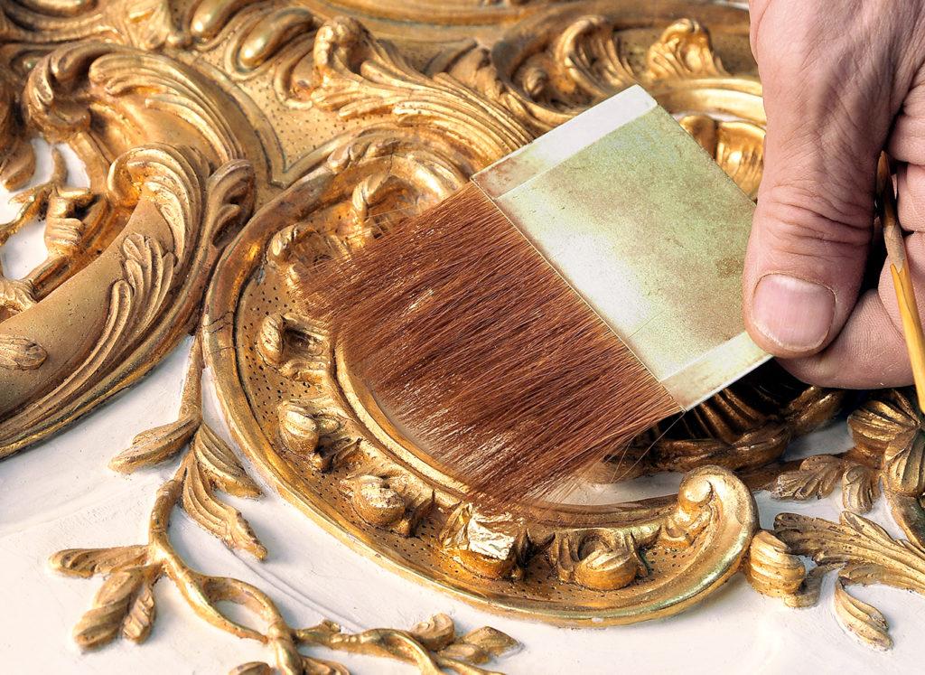 Dorure sur bois artisan d'art Féau Boiseries