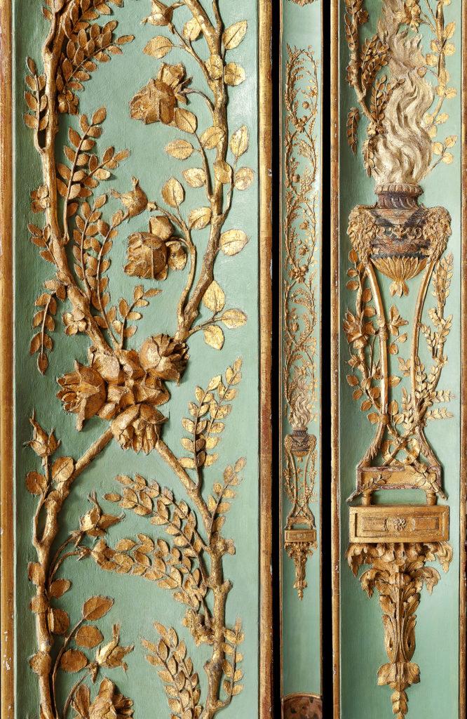 Panneaux de la Guimard par Claude Nicolas Ledoux, XVIIIe, collection Féau Boiseries