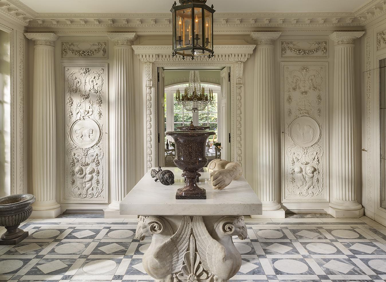 Neoclassical style wall paneling, Ledoux inspiration