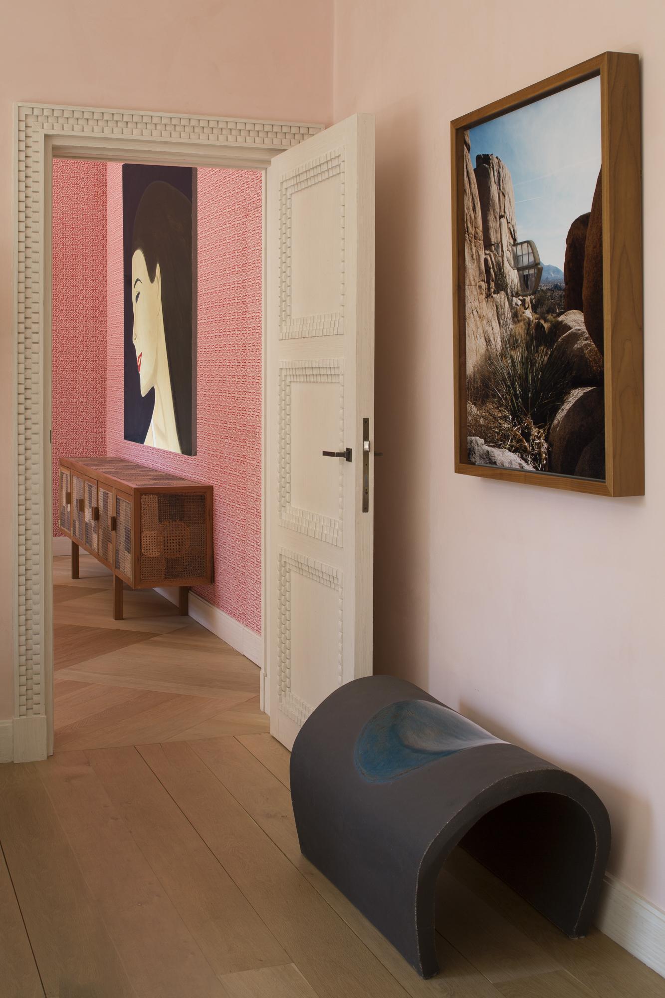 Modèle de porte créée par Féau Boiseries en s'inspirant d'un des motifs Art Déco d'Emile-Jacques Ruhlmann