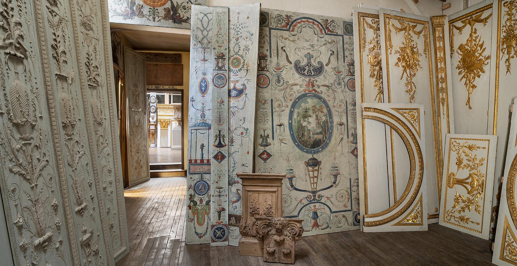 Musée particulier Féau, papiers peints Bélanger