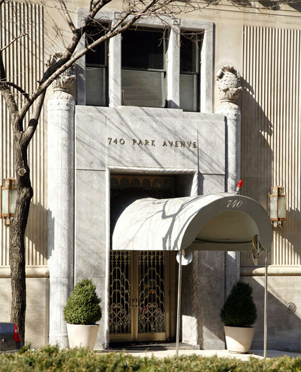 Entree 740 Park Avenue New York