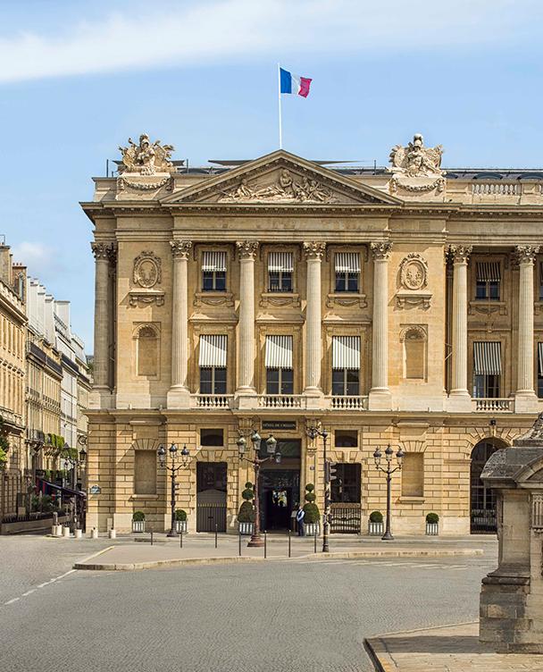 Hotel de Crillon Facade extérieure grand angle