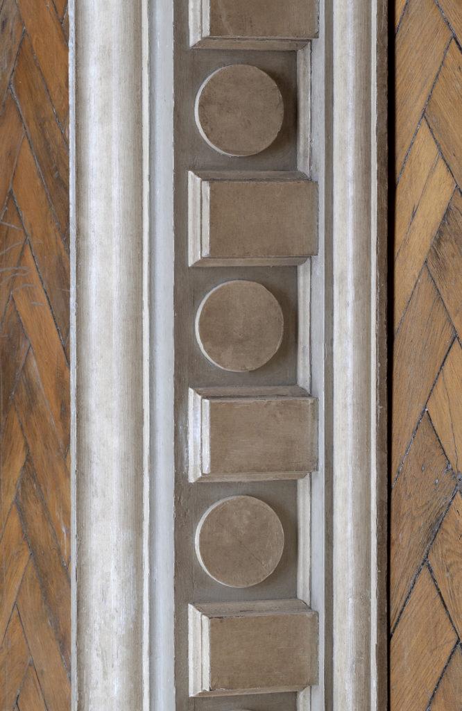 Corniche en boiserie chêne Christian Dior, piece originale, collection Féau Boiseries