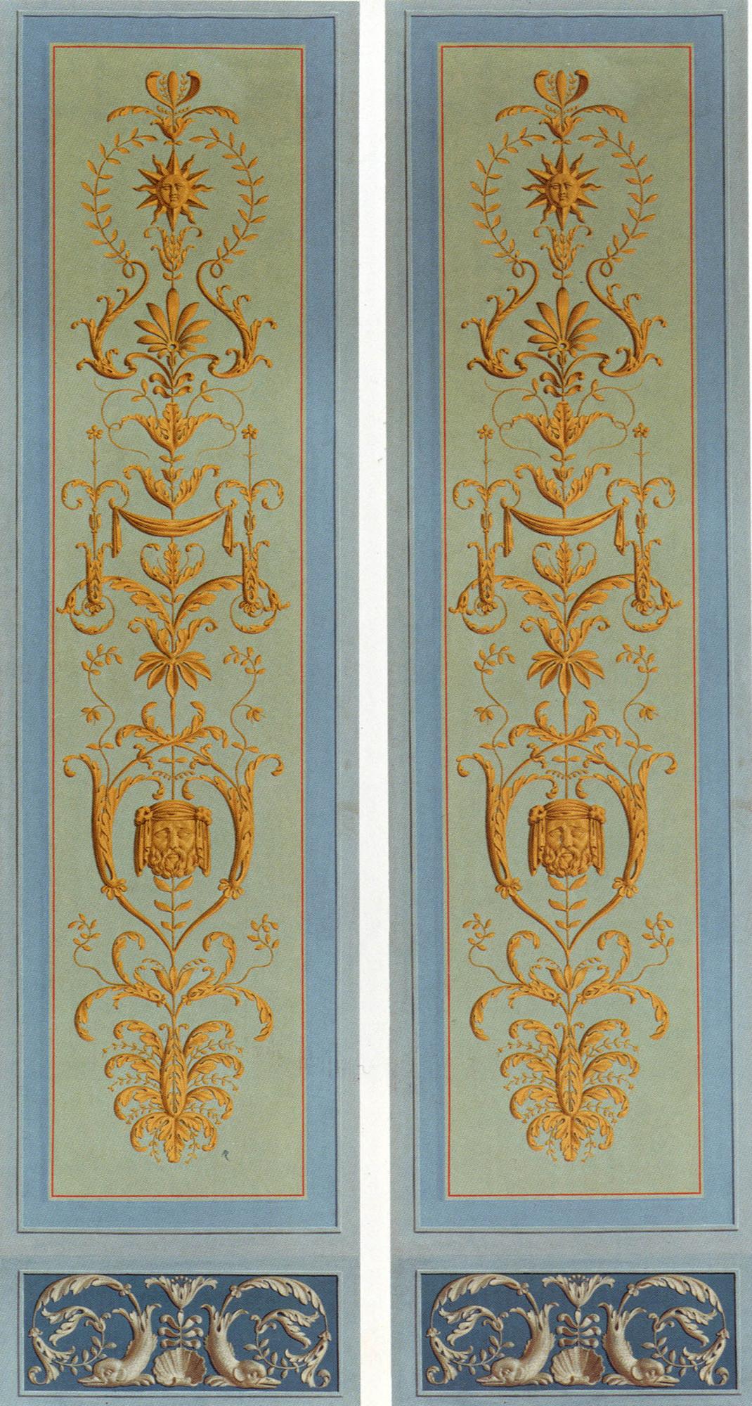 Double panneau d'arabesques style Percier & Fontaine