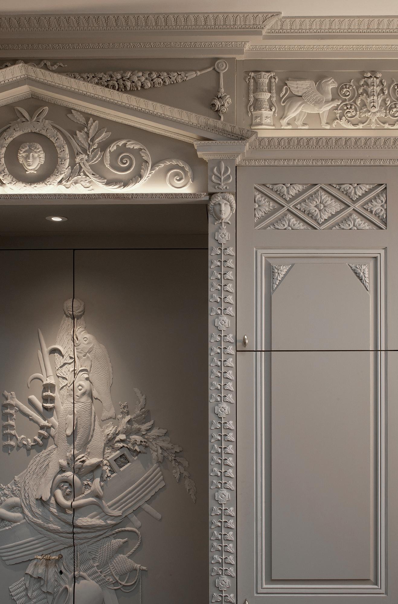 Habillage de portes, Empire et Percier & Fontaine