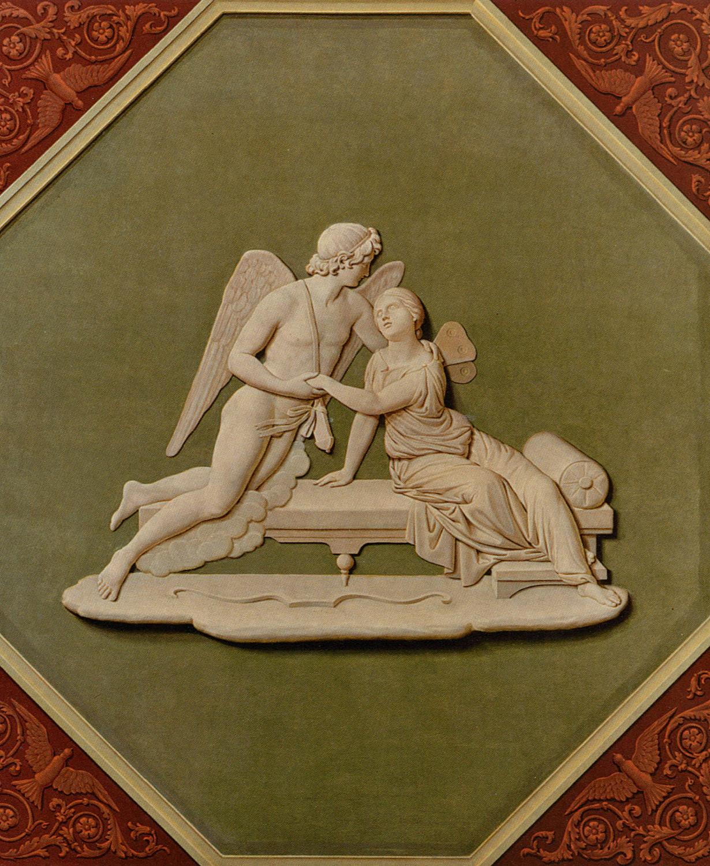 Scène à l'antique peinte, style Percier & Fontaine