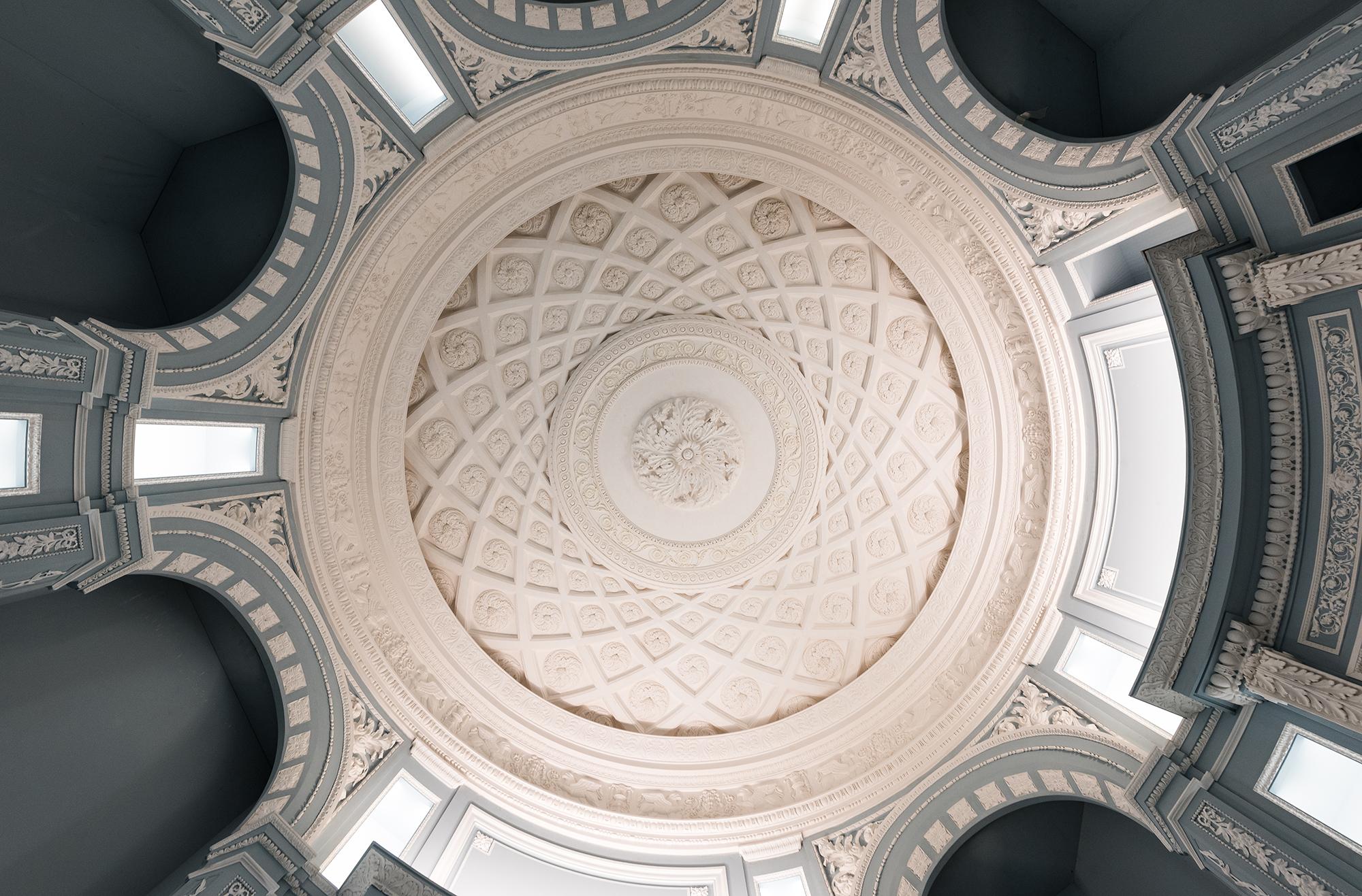 Rotonde et coupole néoclassiques, au Sud de l'Europe