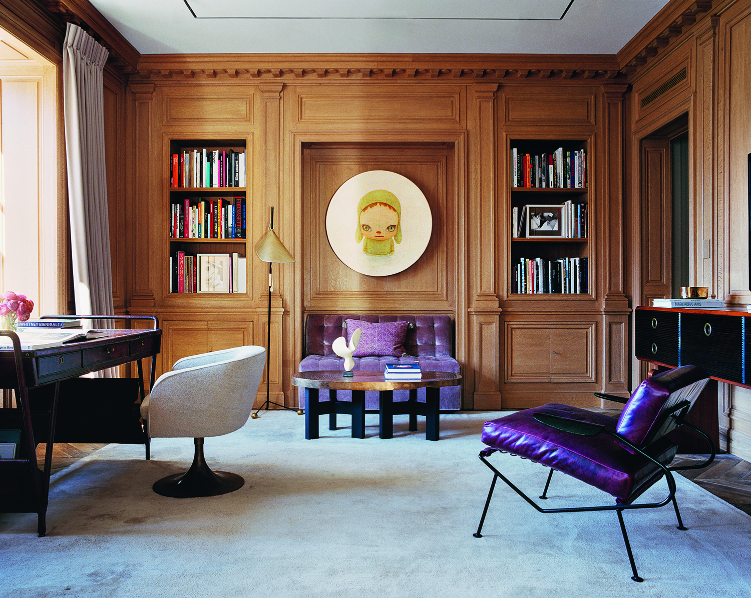 Natural oak salon for The Pierre hotel, New York