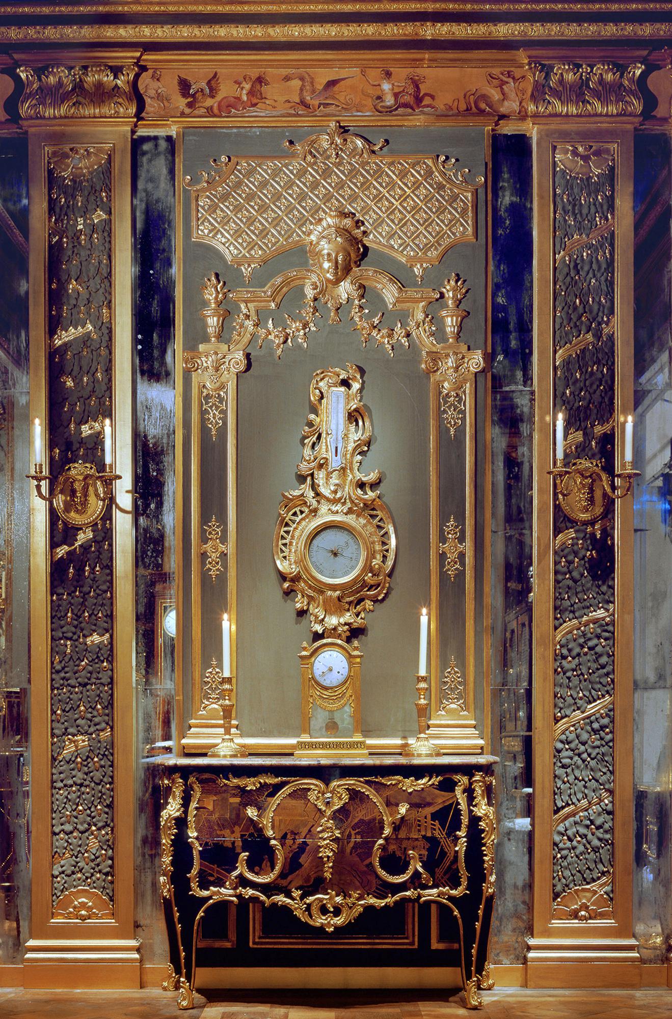 Salon XVIIe à l'ancien Chateau du Marais