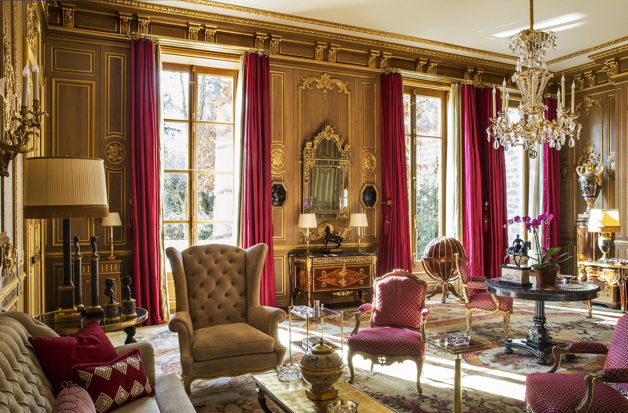 Salon-bibliothèque Louis XIV à Paris