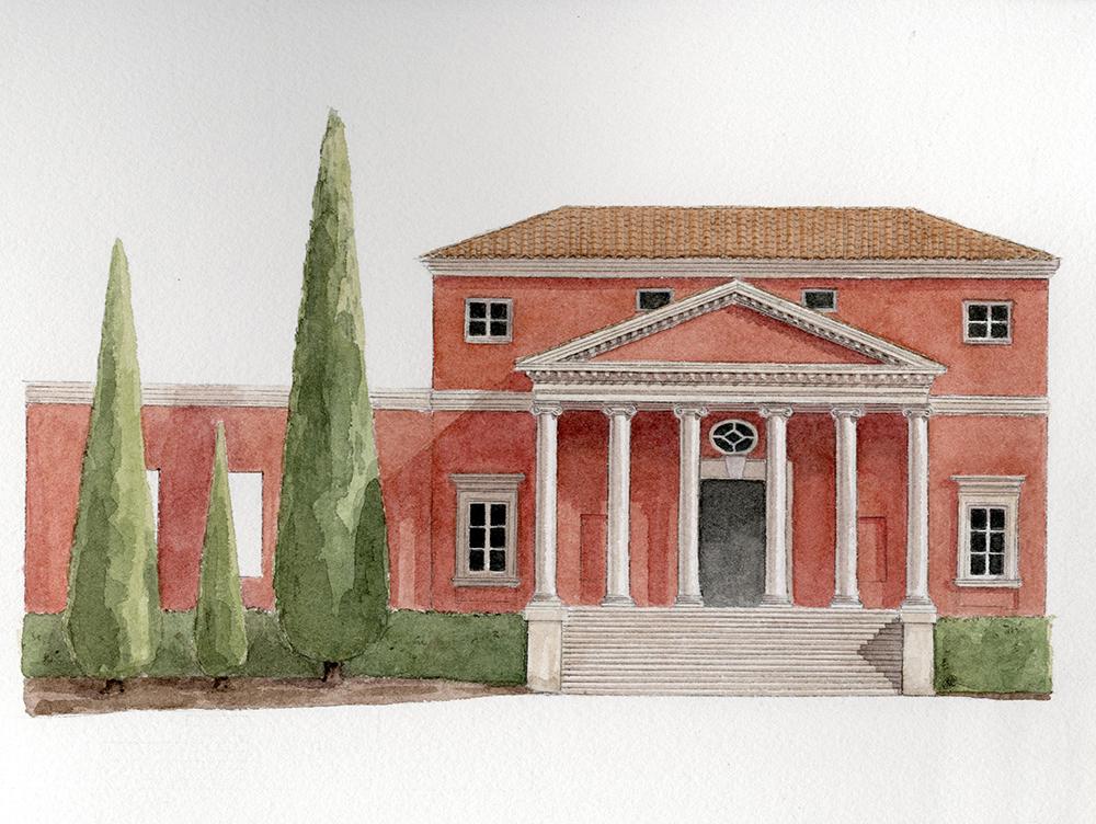 Watercolor, Côte Azur luxury villa, France, iconic Féau Boiseries project
